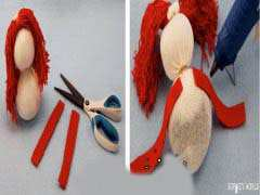 image آموزش عکس به عکس ساخت عروسک با جوراب