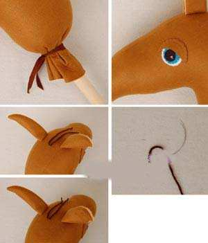image, آموزش ساخت کله اسب برای کاردستی یا اسباب بازی