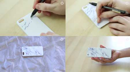 image, آموزش تصویری تزیین و کشیدن نقاشی روی قاب موبایل