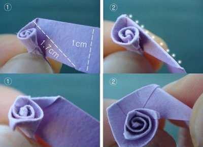 image, آموزش عکس به عکس درست کردن گل های زیبای کاغذی تزیینی