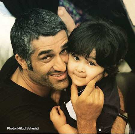 image عکس زیبای دایی و خواهرزاده پژمان جمشیدی و برسام