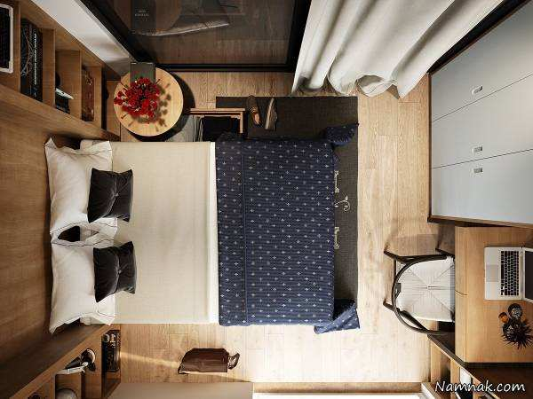 image ایده های تصویری جادویی دکور و استفاده بهینه از اتاق خواب کوچک