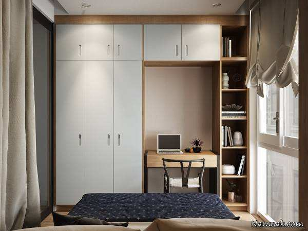 image, ایده های تصویری جادویی دکور و استفاده بهینه از اتاق خواب کوچک