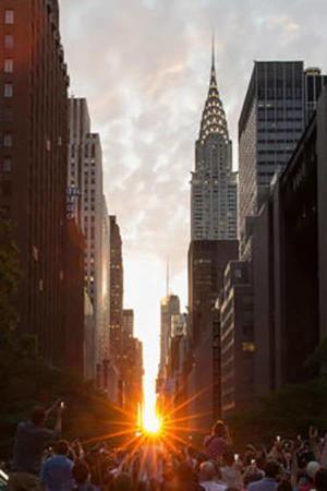 image, عکس زیبای غروب آفتاب در یکی از خیابان های محله منهتن نیویورک