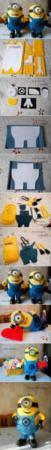 image آموزش کامل و تصویری دوختن عروسک مینیون با الگو
