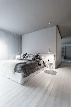 image دکوراسیون شیک و خاص کامل یک خانه با رنگ سیاه و سفید