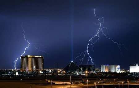 image تصویر دیدنی رعد و برق در لاس وگاس آمریکا
