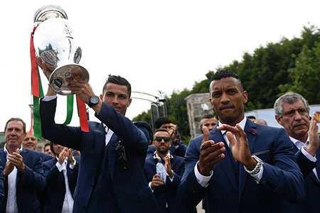 image, عکس زیبای مراسم استقبال تیم ملی فوتبال پرتغال در شهر لیسبون