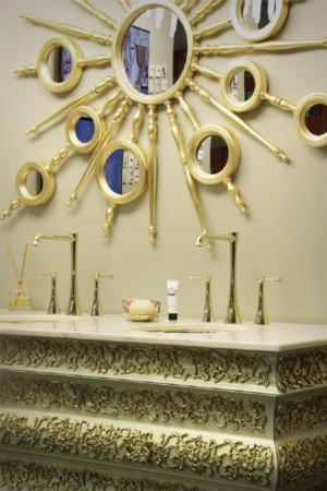 image, عکس های دیدنی از شیک ترین روشویی سرویس بهداشتی طلایی سفید