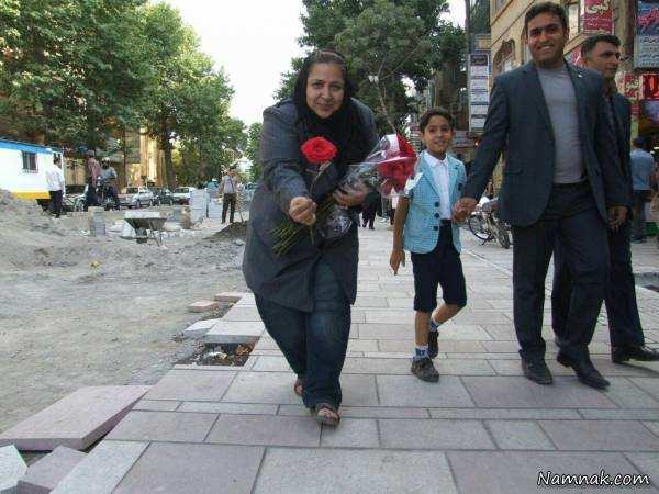 image, تصاویر دیدنی شهره لرستانی هنگام بنایی در خیابان بوعلی سینای همدان