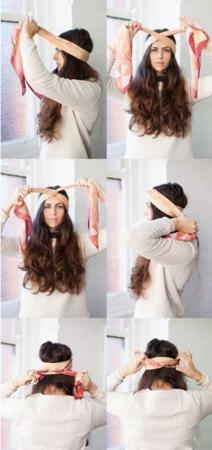 image آموزش تصویری بستن ده ها مدل دستمال سر برای خانم ها