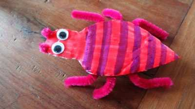 image آموزش تصویری ساخت کاردستی حشرات زیبا برای بچه ها