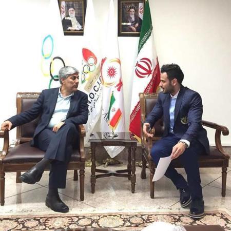 image لباس جدید طراحی شده کاروان المپیک ایران توسط کامران بختیاری