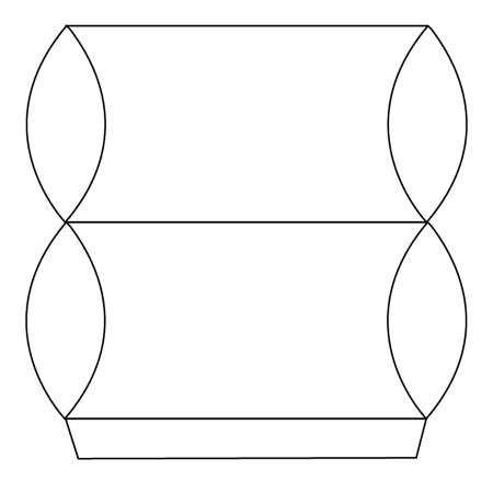 image آموزش عکس به عکس ساخت جعبه کادو برای شکلات با الگو