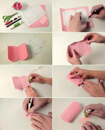 image, آموزش عکس به عکس ساخت جعبه کادو برای شکلات با الگو