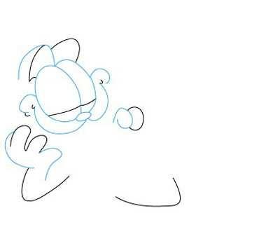 image آموزش تصویری کشیدن گربه بامزه مخصوص بچه ها