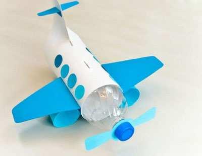image آموزش عکس به عکس ساخت کاردستی هواپیما برای بچه ها