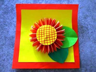 image, آموزش تصویری ساخت کاردستی گل برای کار عملی مدرسه