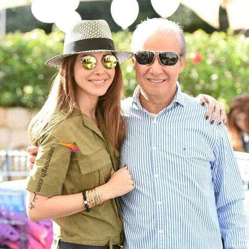 image, عکسی زیبا از نانسی عجرم در کنار پدر