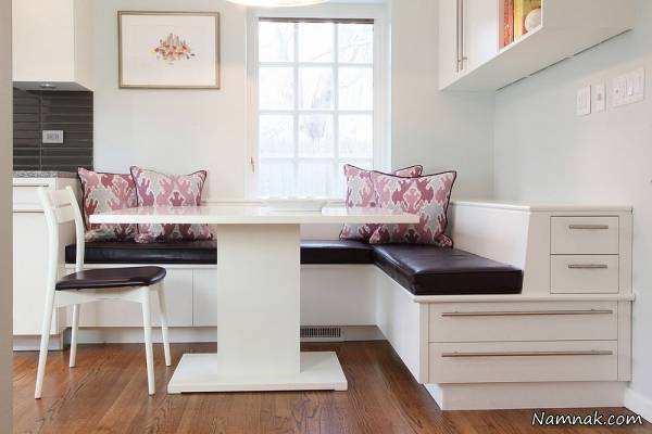 image مدل های جدید میز غذاخوری برای کنج و گوشه های سالن