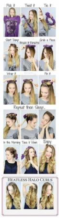 image, آموزش فر کردن موها در خانه با ساده ترین امکانات