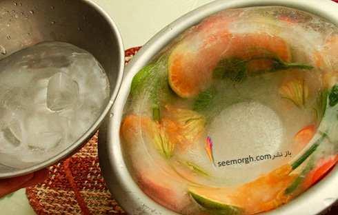 image, آموزش تصویری درست کردن ظرف یخی برای سرو میوه در مهمانی