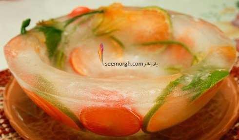 image آموزش تصویری درست کردن ظرف یخی برای سرو میوه در مهمانی
