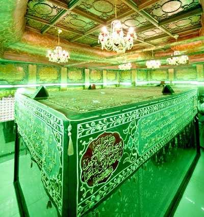 image, متن عربی و فارسی شعر زیبای نوشته در مقبره حضرت ابوالفضل (ع)