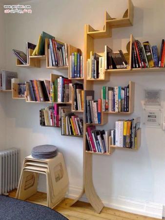 image, ایده های جالب و شیک کتابخانه برای سالن های پذیرایی در آپارتمان