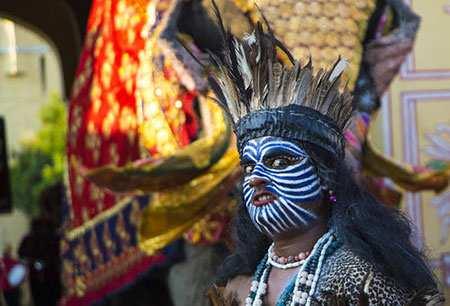 image, عکسی دیدنی از جشنواره آیینی در جیپور هند