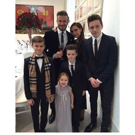 image تصویری زیبا از دیوید بکهام همراه با همسر و فرزندانش