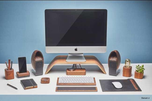 image, تصاویر دیدنی از کامپیوتری با قاب چوبی و مدرن