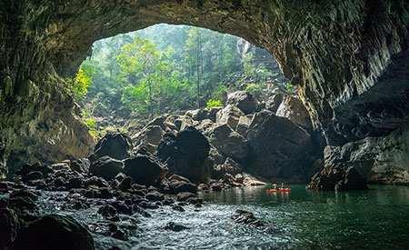 image گزارش تصویری دیدنی از غارهای زیرزمینی Tham khoun