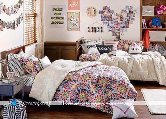 image, ایده های جالب دکور اتاق دو تخته برای دخترهای نوجوان