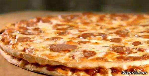 image چطور برای جشن تولد بچه ها پیتزا دوطبقه درست کنیم