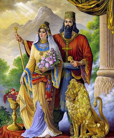 image تصاویر نقاشی دیدنی پیدا شده از همسر کوروش کبیر