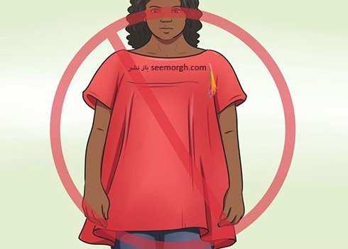 image, آموزش تصویری شیک لباس پوشیدن برای خانم های چاق
