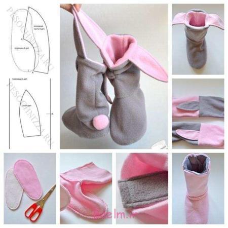 image, آموزش عکس به عکس دوخت کفش بچگانه مدل خرگوشی