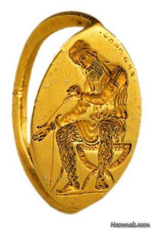 image, عکس انگشتر طلای کوروش کبیر در موزه روسیه