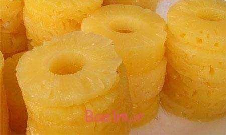 image, چطور در خانه مثل کمبوت آناناس آماده درست کنیم