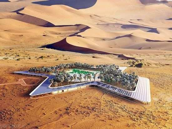 image, ساخت پارک سر سبز و آبی در بیابان قطر همراه با عکس