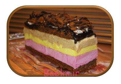 image آموزش تهیه دسر خوشمزه کیک بستنی برای مهمانی رسمی