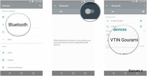 image آموزش تصویری نحوه اتصال هدفون بلوتوث به گوشی اندرویدی