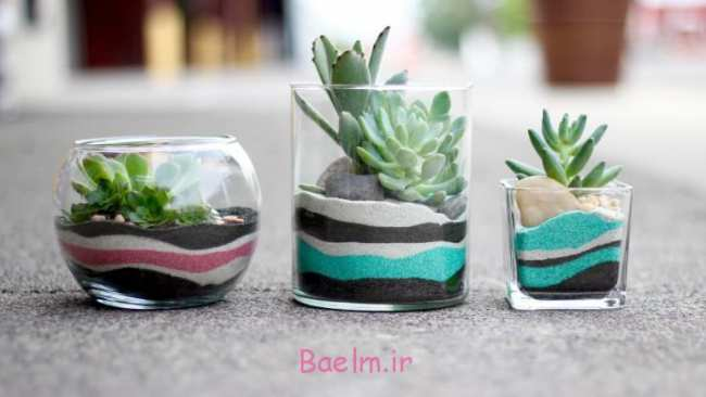 image, ایده های زیبا و تصویری تزیین گلدان های شیشه ای