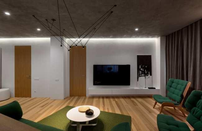 image عکس های دکوراسیون شیک خانه ترکیب سفید سبز کمرنگ و پررنگ
