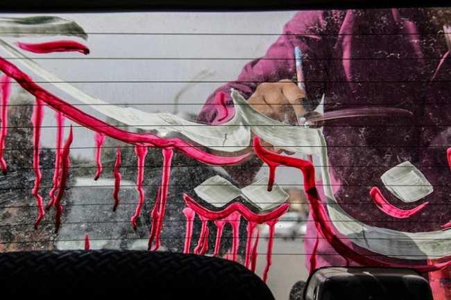 image تصاویر زیبا از پشت نویسی ماشین ها در ایام محرم
