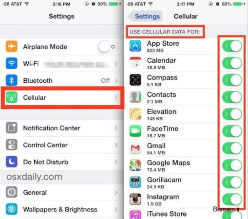 image ترفند جالب کاهش مصرف اینترنت در گوشی ایفون