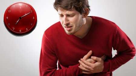 image خطر سکته قلبی در ساعات چهار تا ده صبح