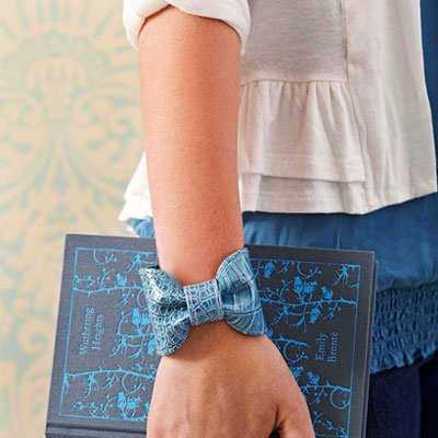 image, آموزش دوخت دستبند پاپیونی چرمی دخترانه بسیار شیک