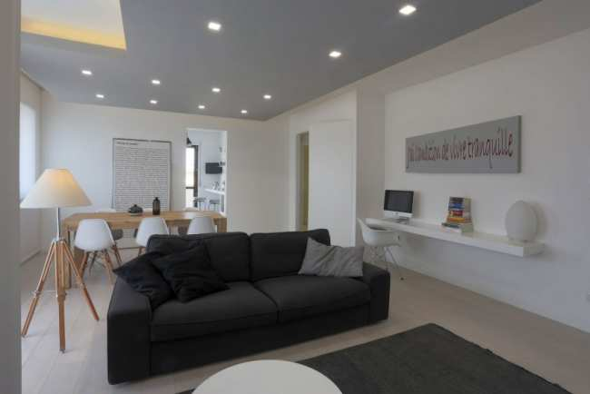 image دکوراسیون شیک و ساده آپارتمان مدرن کوچک